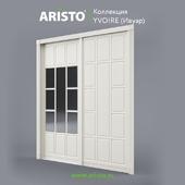 OM Sliding doors ARISTO, Ivoire, Yv.100.4, Yv.100.5