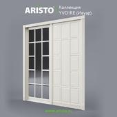 OM Sliding doors ARISTO, Ivoire, Yv.100.6, Yv.100.5