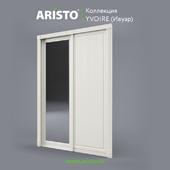 OM Sliding doors ARISTO, Ivoire, Yv.90.1, Yv.90.9