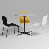 Vitra super fold table and Vitra .03 chair