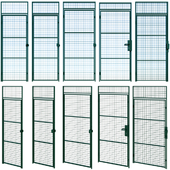 Swing metal metal door