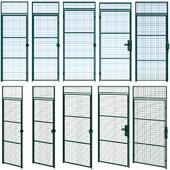 Распашная металлическая решетчатая дверь