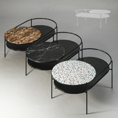 Set of 3 Woud Verde Coffee Tables