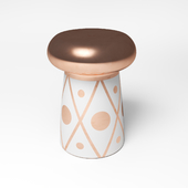 Dots White & Gold Accent Table