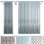 Crate and Barrel Shower Curtain collection 1