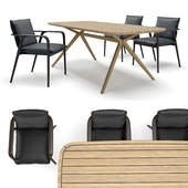 Natuzzi Dining Chairs MOORE and table DECK