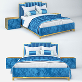 Golden blue bed