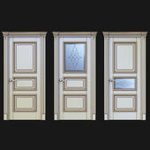 Дверь Белоравуд Арт3 Слоновая кость (патина бронза)