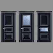 Дверь Белоравуд АРТ3 Венге (Патина серебро)