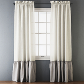 Ruffled Cotton Curtains