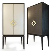 Шкаф с кожаными дверками,  Laurent cabinet. The Sofa & Chair compani