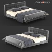 Double, gray bed PostureLoft Mornington from Overstock