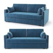 Straight, blue Rimmini sofa bed, velor