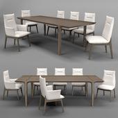 Natuzzi SOVRANA chair KENDO table