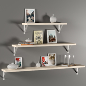 Decorative set of three shelves.