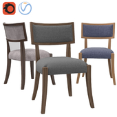 RH Classic Klismos Fabric Side Chair