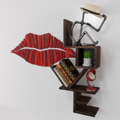 Love Kiss Shelf Wall Decor