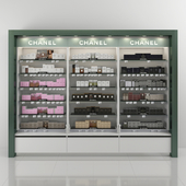 Trade rack with perfume Chanel