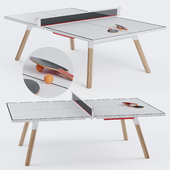 You and Me HPL Tennis Table with Accessories