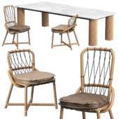 Manao chairs Nevada table by Baxter