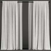 White curtains with tulle.