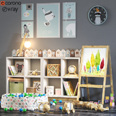 Toys and furniture set