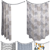 Crate and Barrel Shower Curtain collection 2
