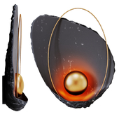 Sconce Ginger & Jagger Pearl Black Wall Lamp