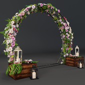 Wedding arch with flowers 3501