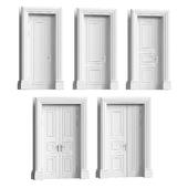 Набор классических дверей
