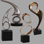Sculptures decor set by Bob Bennett 02