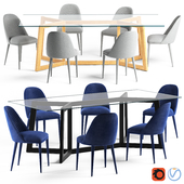 Globewest Geo Table and Lucille Chair
