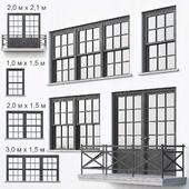 Black loft windows