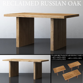 RECLAIMED RUSSIAN OAK PLANK RECTANGULAR DINING TABLE Medium