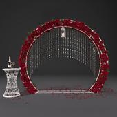 Свадебная арка с цветами 3502