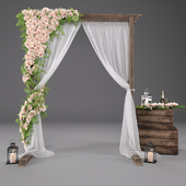 Wedding arch with flowers 3601