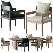 HARBOR / ROZELLE DINING CHAIR AND TABLE
