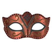 Carnival mask decorated with design