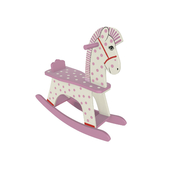 Rocking horse wooden toy 2