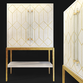 Wardrobe / bar. Cabinet, bar Perrine. Bassett mirror
