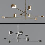 Minimalist-LED-chandelier sunshine
