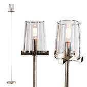 Restoration Hardware PAUILLAC FLOOR LAMP Glass shade and Nickel