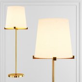 Restoration Hardware PAUILLAC GRAND TABLE LAMP Fabric shade and Brass