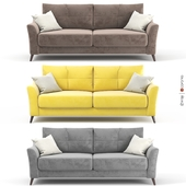 Sofa - bed Amelie from Hoff. Gray, yellow, brown upholstery options, velor.
