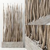 Branch sang decor pebble / Pebble branches