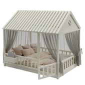 Children's bed with columns No. 3