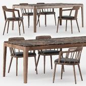 Tiara Sedia, Tilly, Ziggy Table by Porada