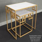 Mandarin Gold Nesting Table