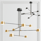 Brass Chandelier 8-Light