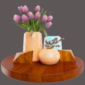Decorative set_Pink roses model
